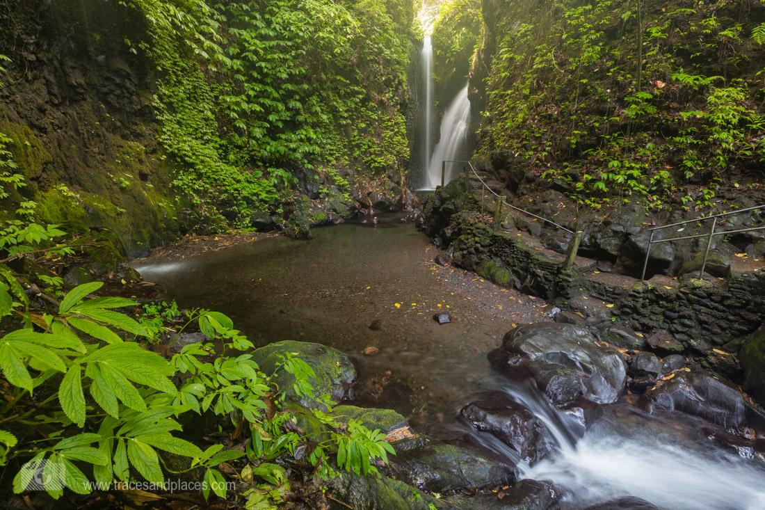 Gitgit twin Wasserfall