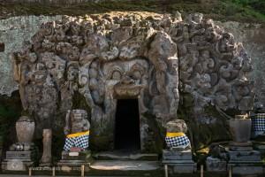 Eingang des Goa Gajah Tempels