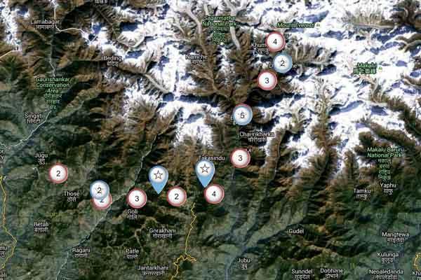 Nepal interaktive Karte
