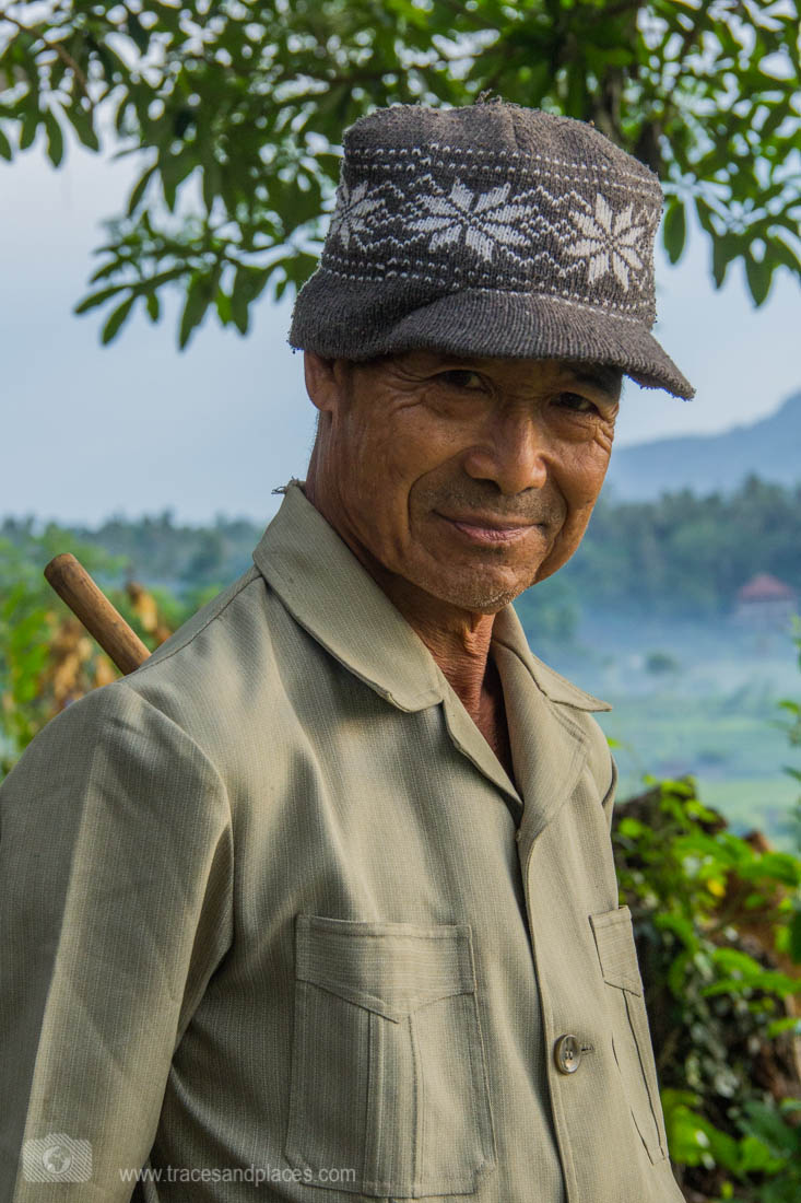 Bali - Ostbali - Tirtagangga - Reisfelder - Reisbauer