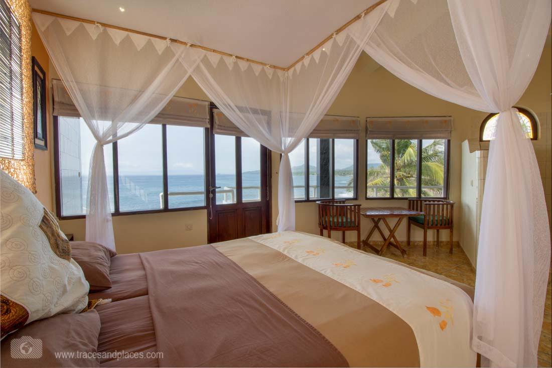 Zimmer mit Meerblick in der Villa Arjuna