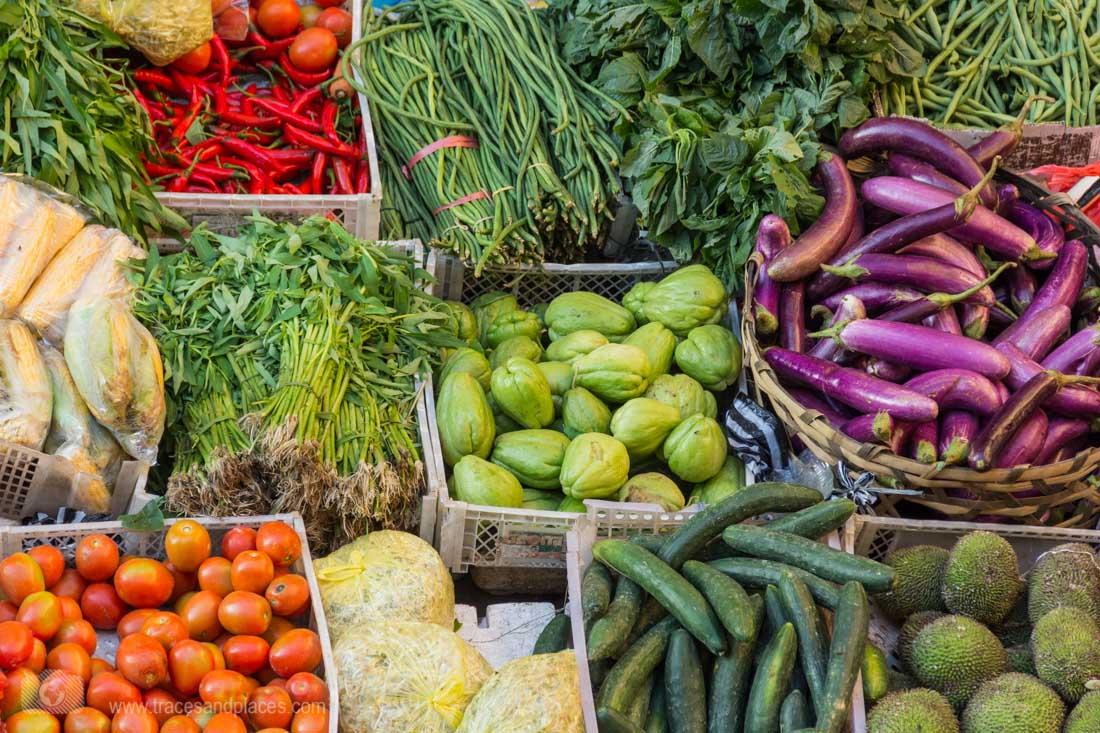 Gemüse auf dem Markt in Ubud-1100
