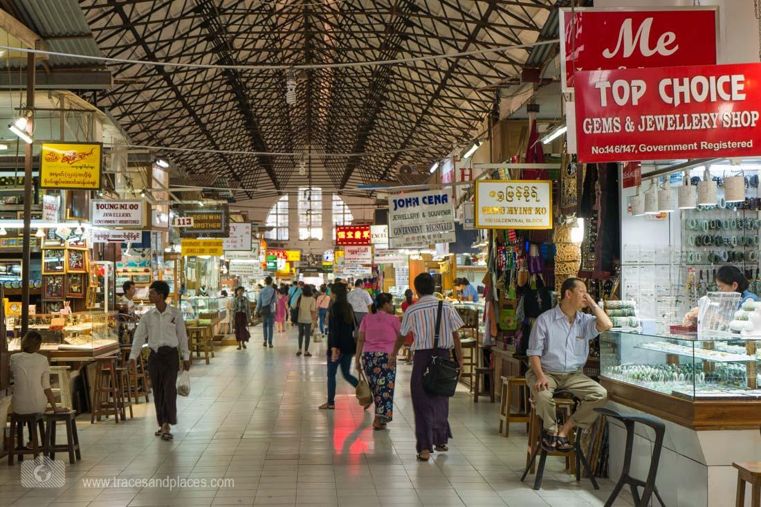 Bogyoke Aung San-Markt in Yangon