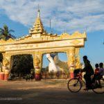 Eingang Mya Tharlyaung liegender Buddha in Bago