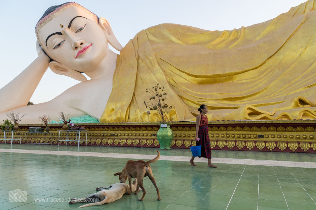 Mya Tharlyaung liegender Buddha in Bago