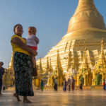 Shwedagon Pagode am Morgen