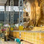 Shwethalyaung liegender Buddha in Halle in Bago