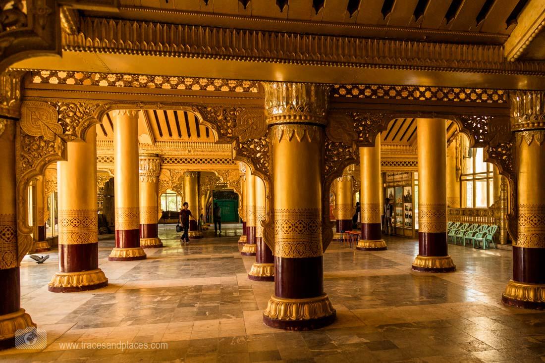 Räume im Kanbawzathadi Palast in Bago
