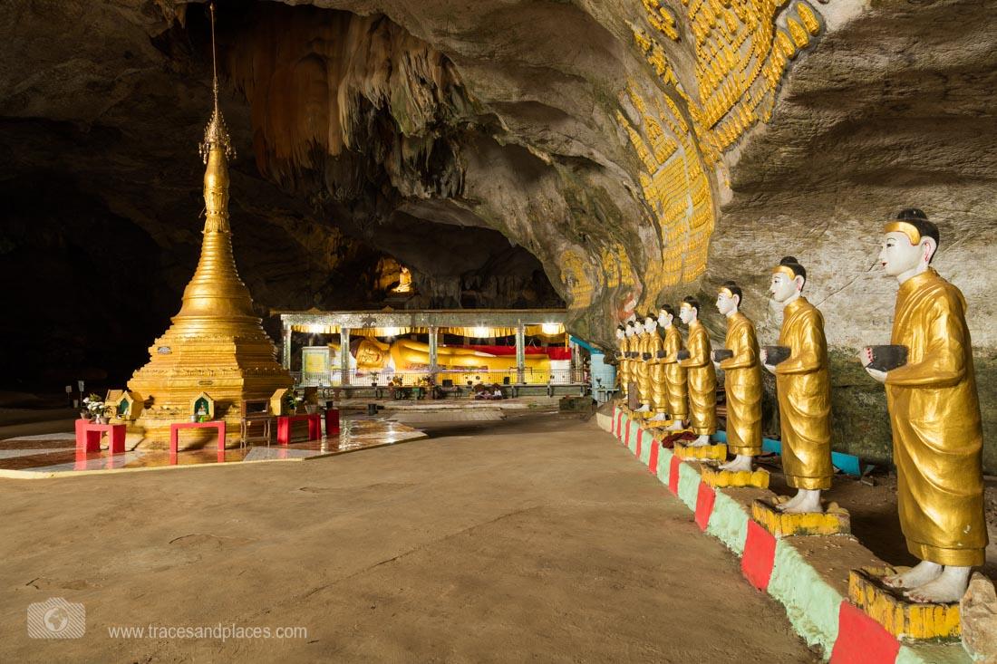 Buddhas in der Saddan Höhle