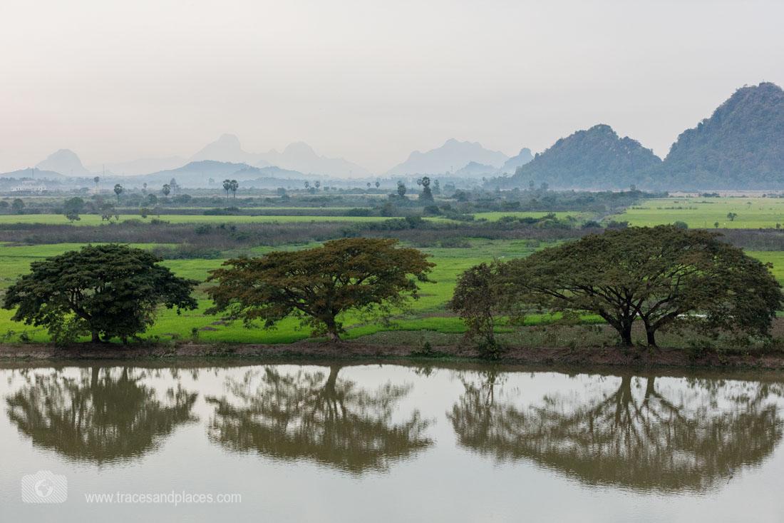 Ausblick von der Kyauk Ka Lat Pagode