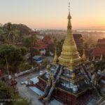 Sonnenuntergang von Kyaik Than Lan Pagode in Mawlamyaing