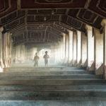 Treppen zur Kyaik Than Lan Pagoda in Mawlamyaing