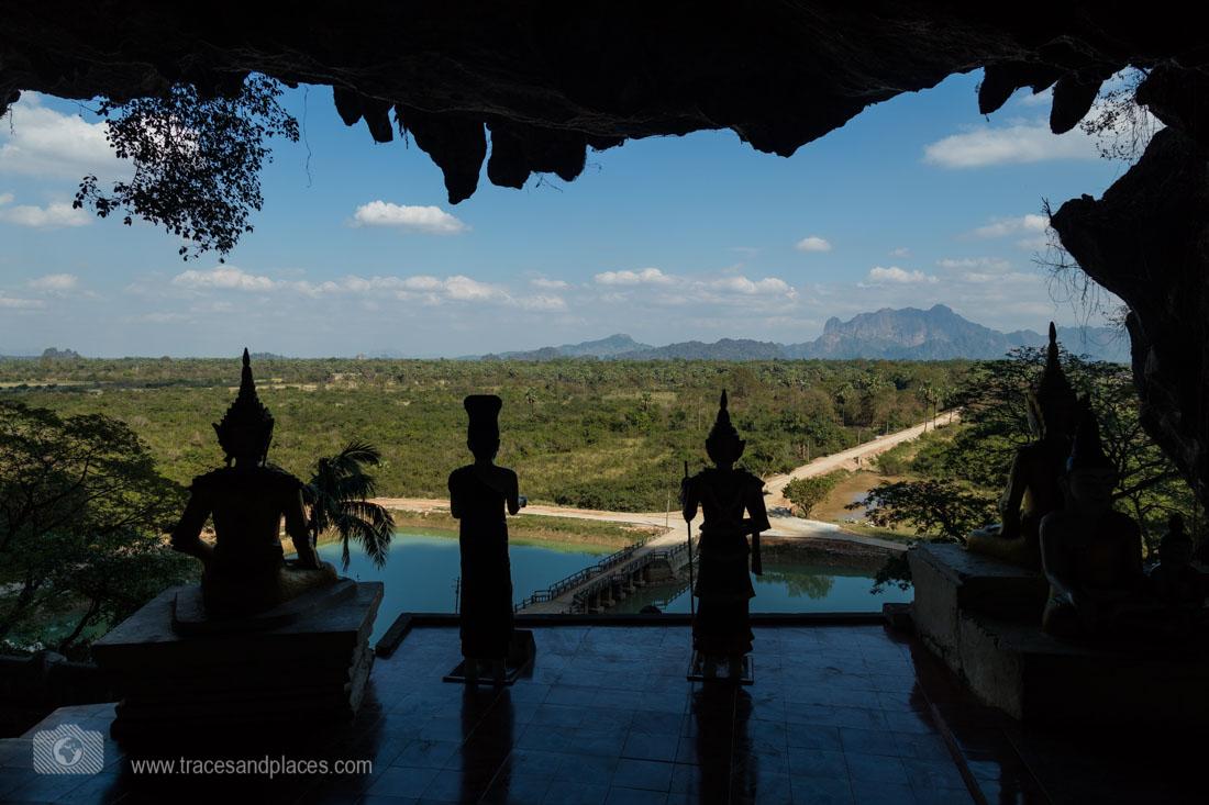 Ausblick von der Ka Taung Höhle in Hpa-an