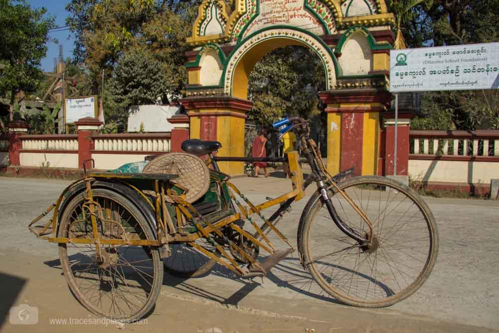 Fahrradrikscha - beliebtes Verkehrsmittel in Sittwe