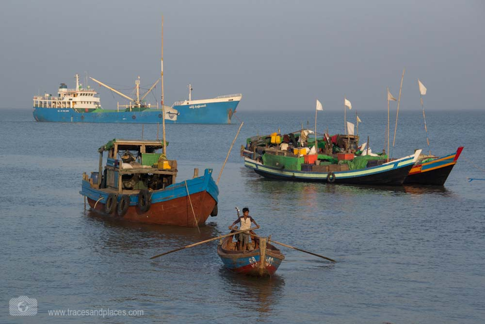 Hafen in Sittwe