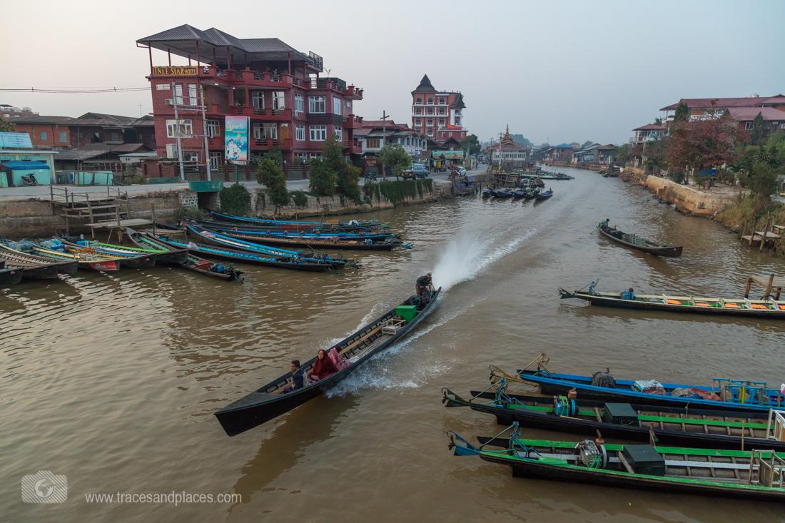 Nyaung Shwe mit Zufluss zum Inle-See