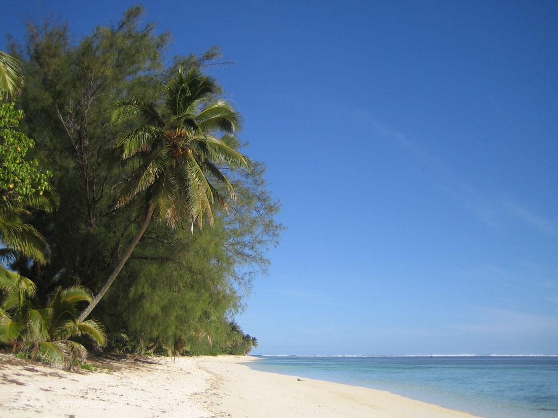 Strand auf Rarotonga Strand