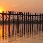 U-Bein Brücke Sonnenuntergang