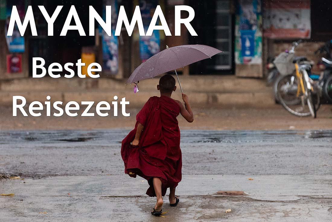 beste Reisezeit in Myanmar
